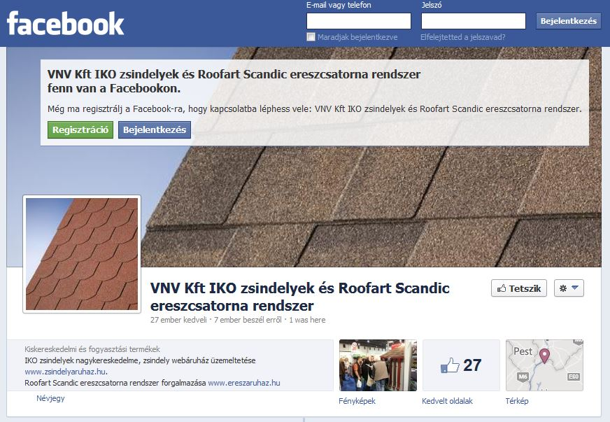 VNV a Facebookon